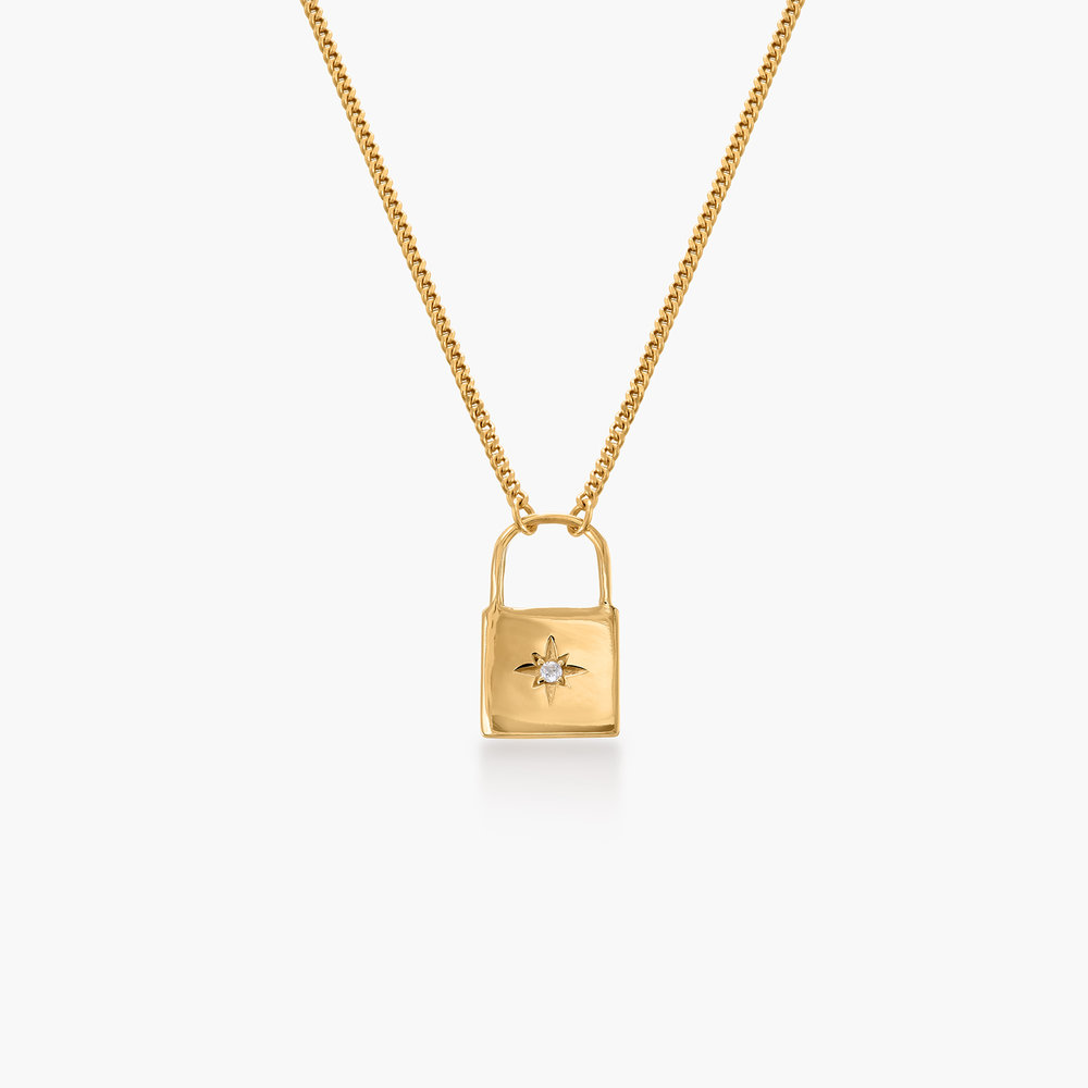 Love Letter Lock Chain - Gold Plated