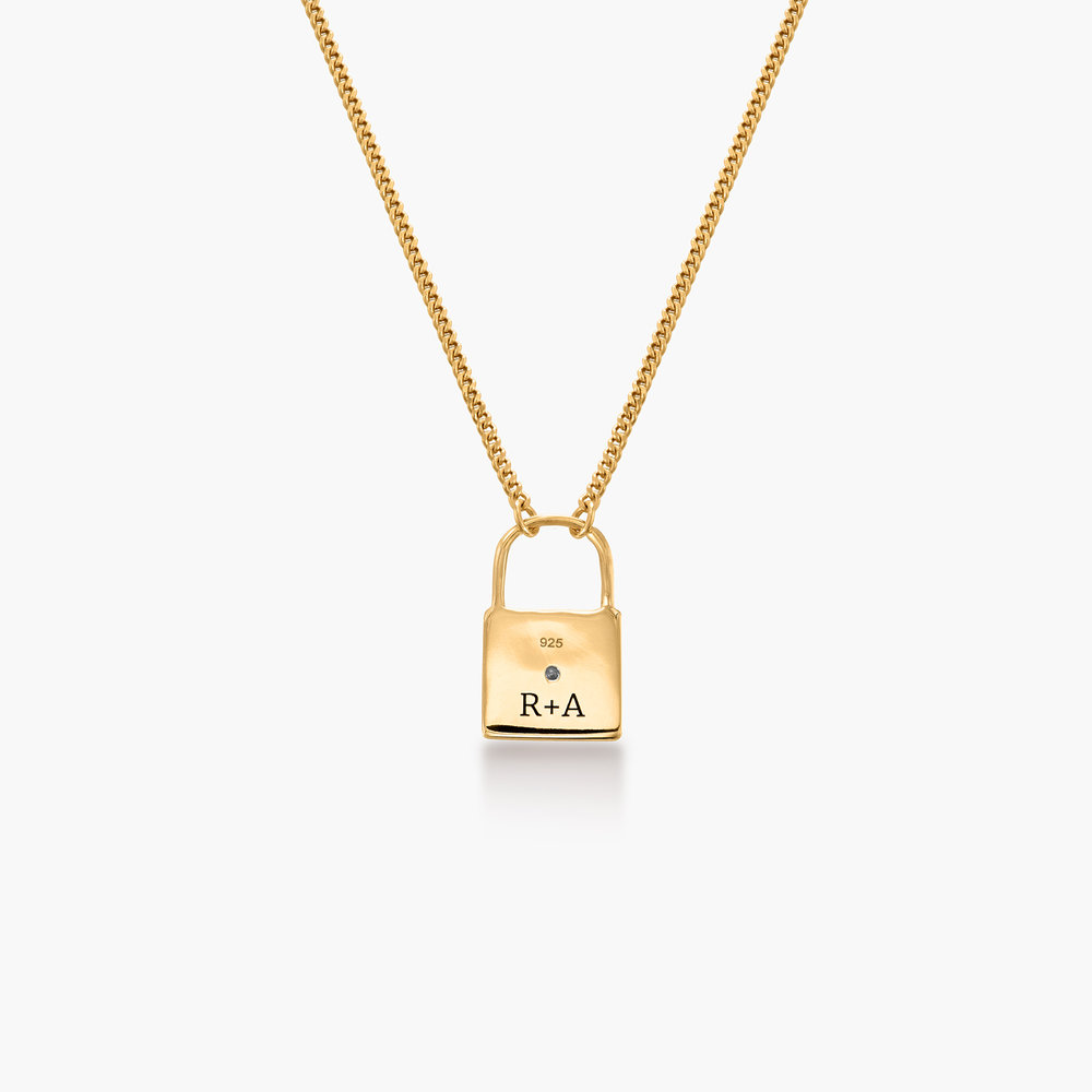 Love Letter Lock Chain - Gold Plated - 1