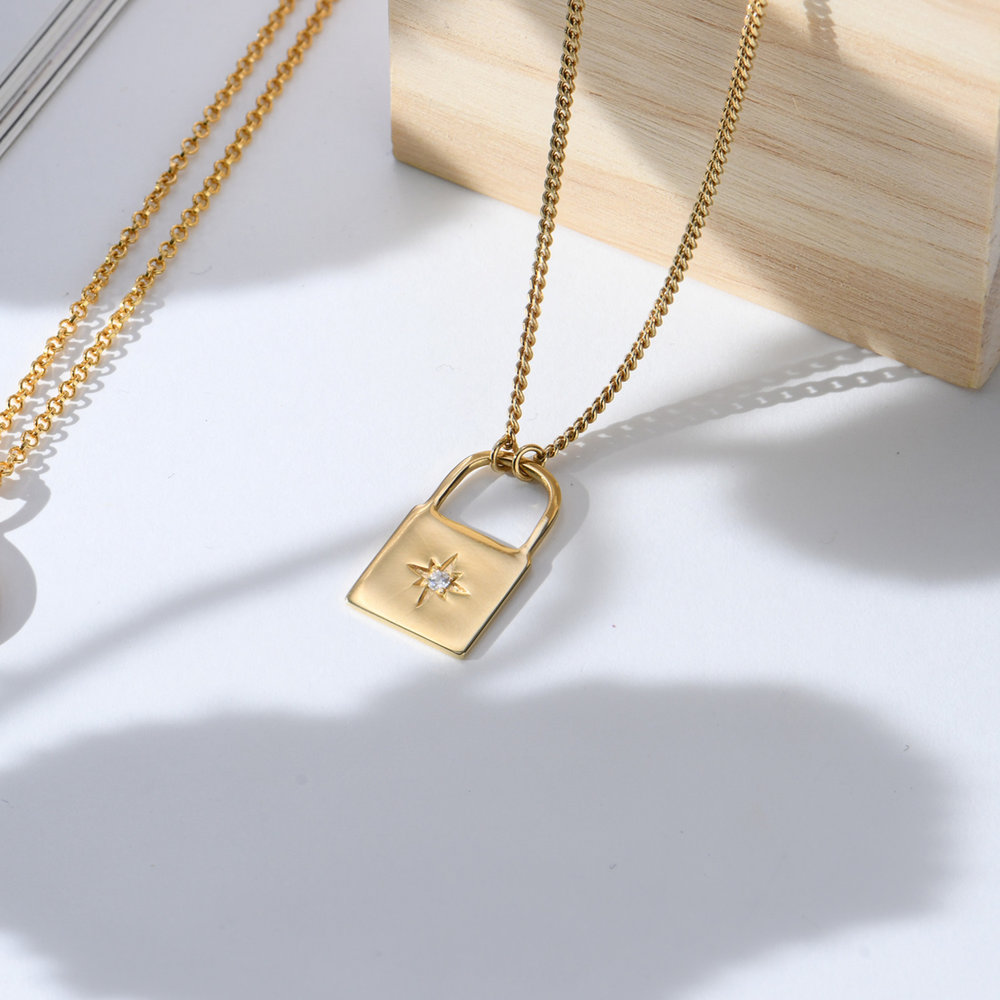 Love Letter Lock Chain - Gold Plated - 2