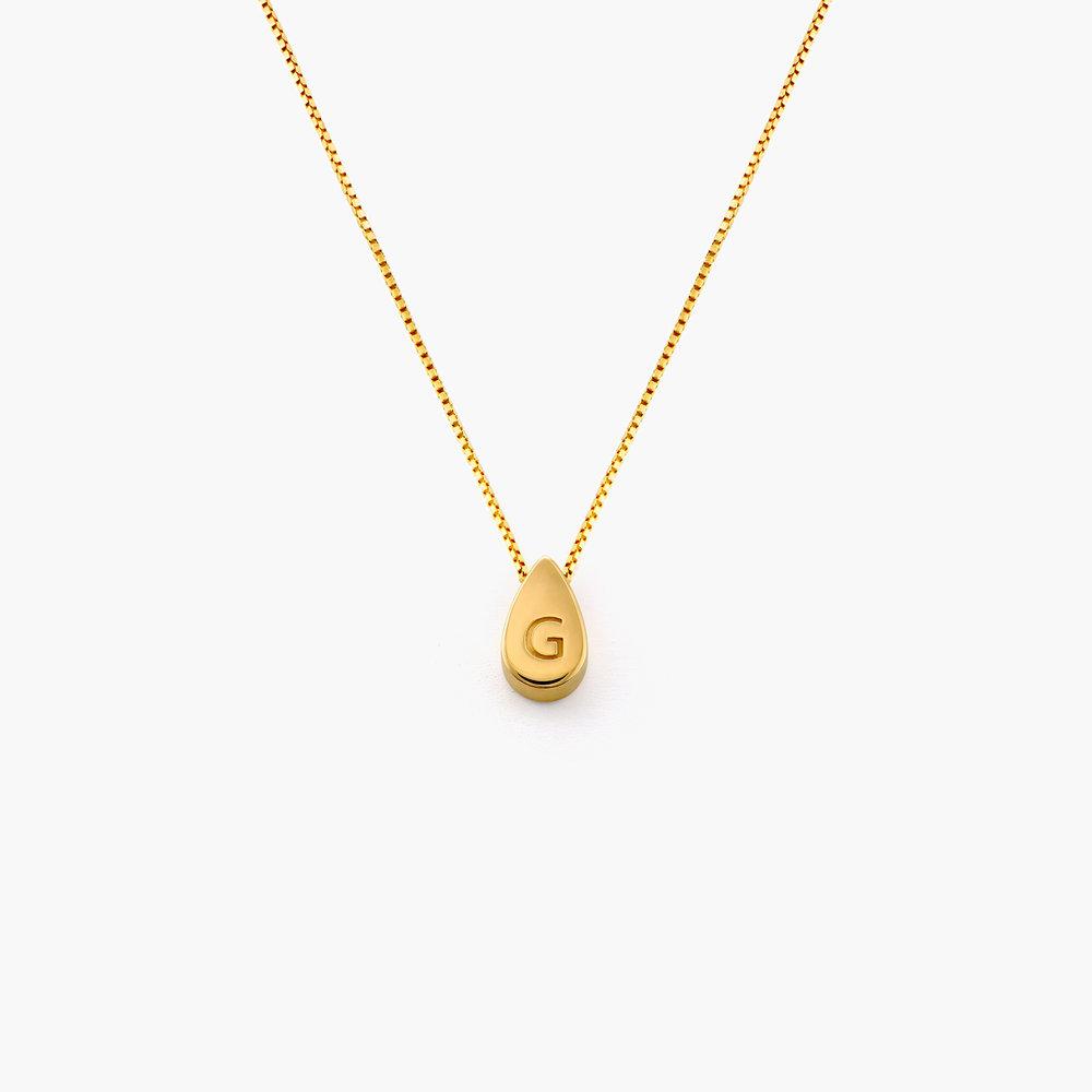 Teardrop Initial Necklace - Gold Vermeil