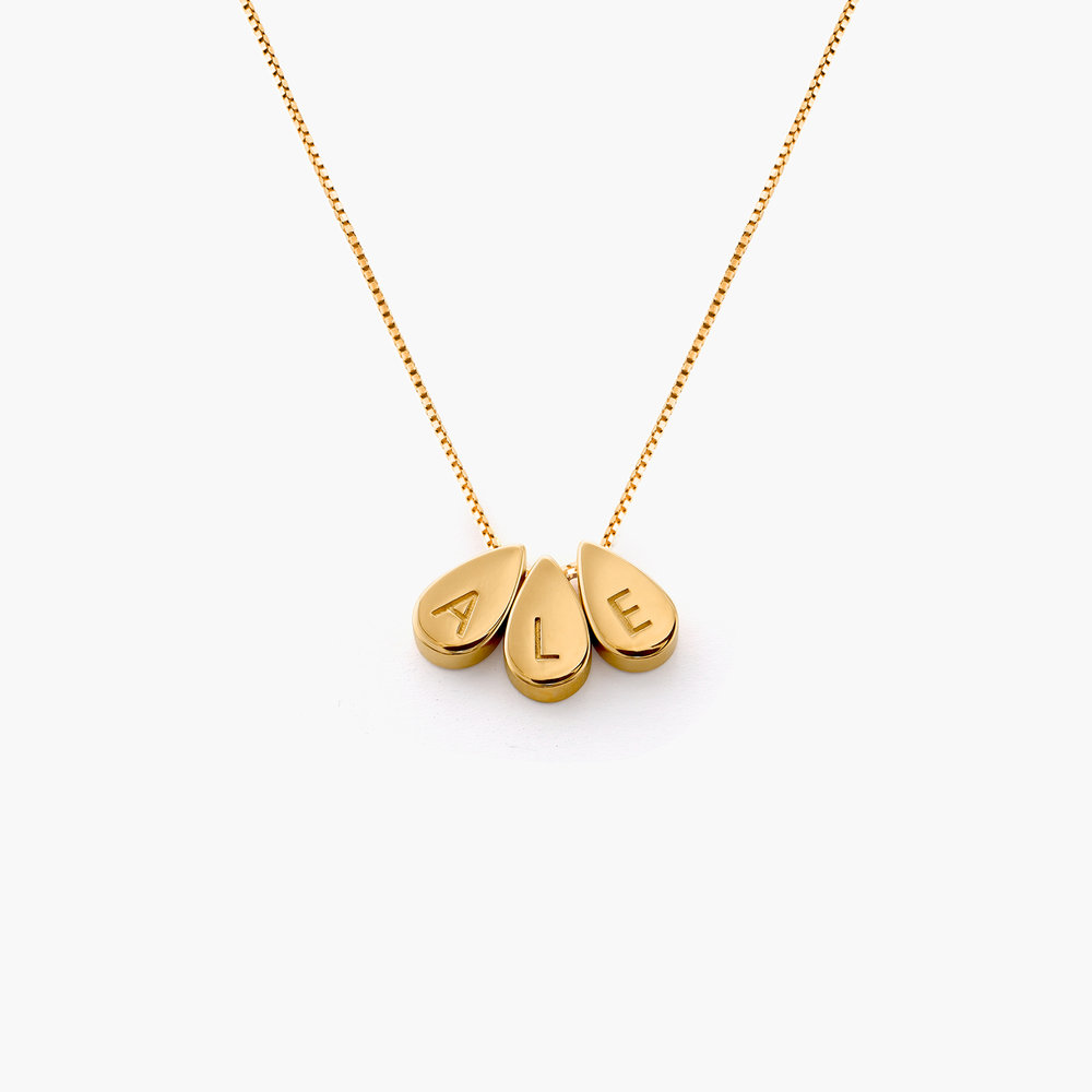 Teardrop Initial Necklace - Gold Vermeil - 1