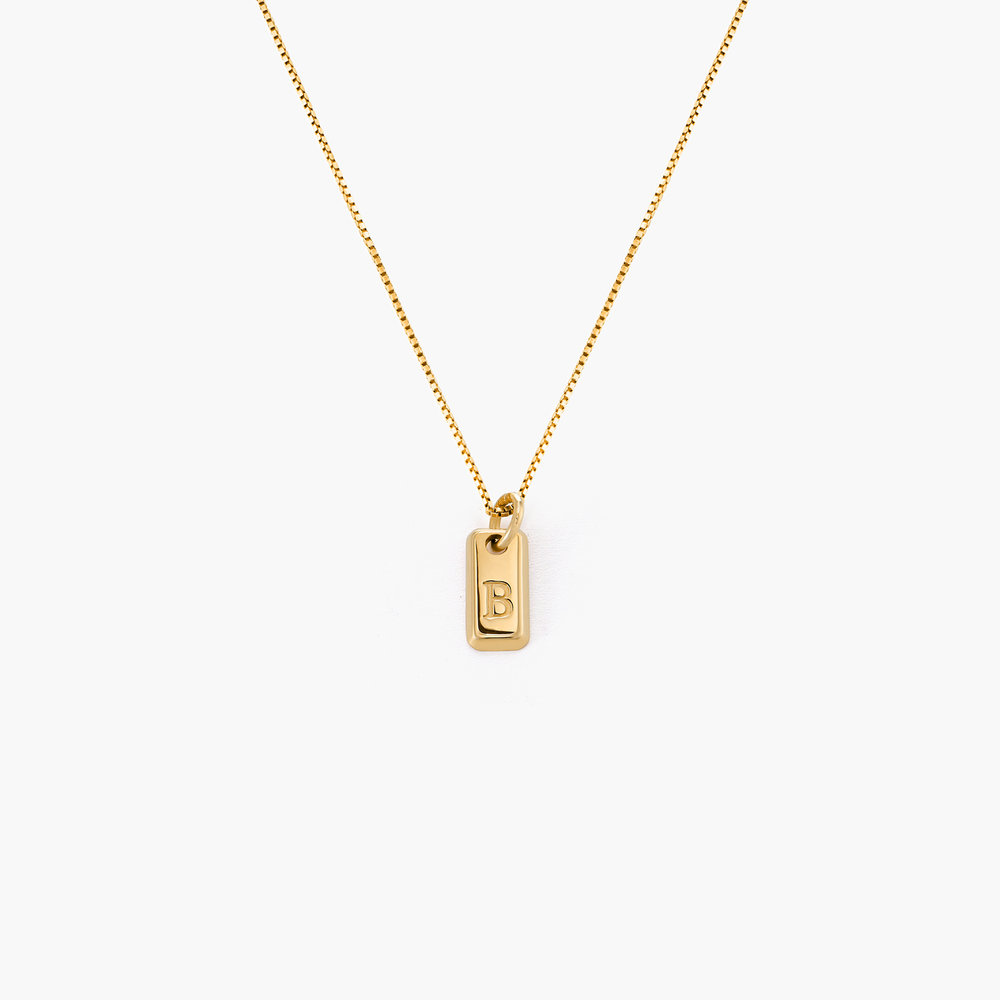 Lucille Tag Necklace - Gold Plated