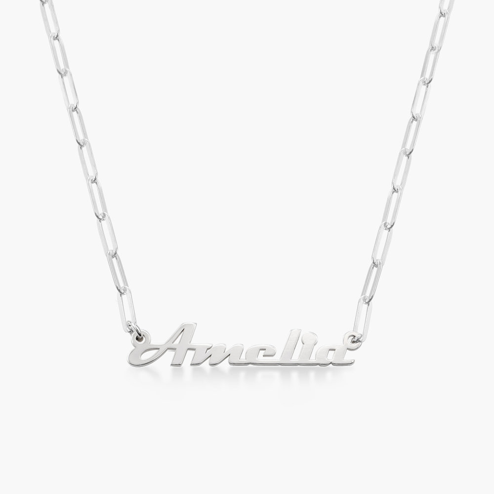 Link Chain Name Necklace - Sterling Silver