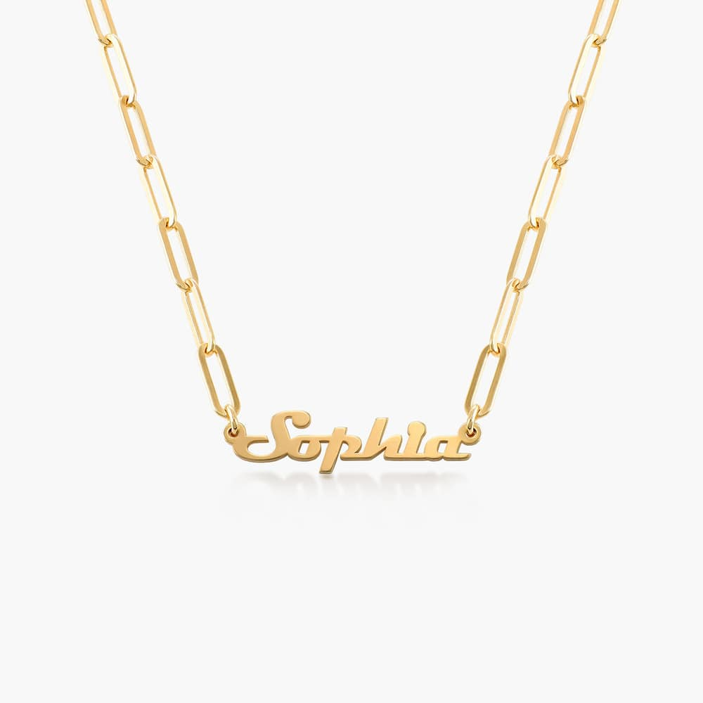 Link Chain Name Necklace - Gold Vermeil