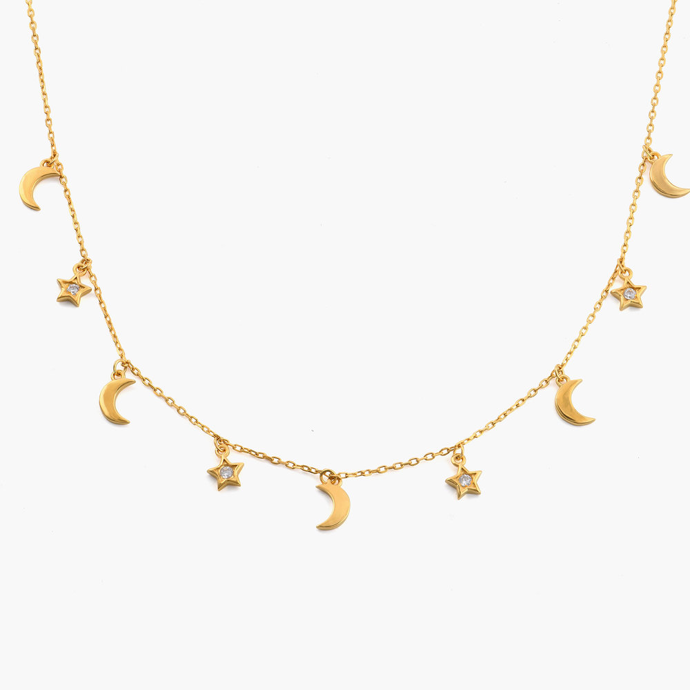 To the Moon and Back Necklace - Gold Plated