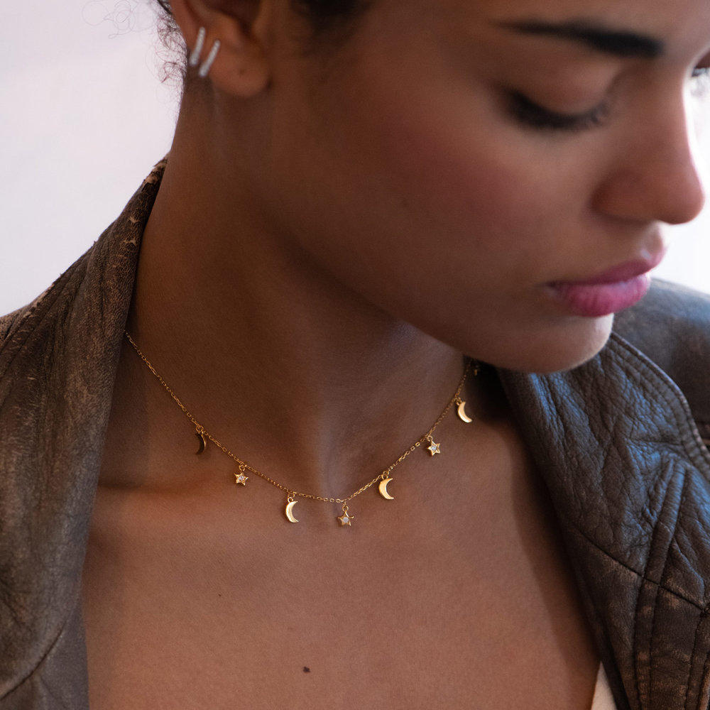 To the Moon and Back Necklace - Gold Plated - 1
