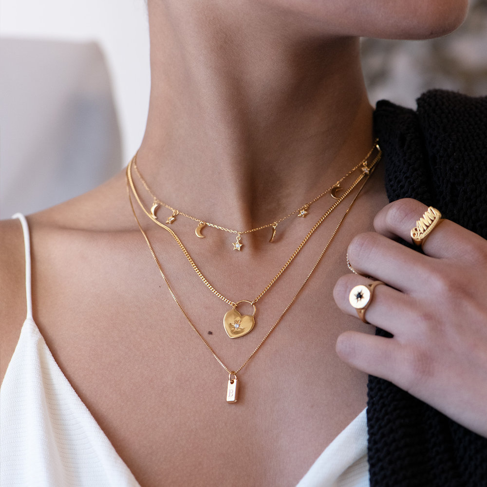 To the Moon and Back Necklace - Gold Plated - 2