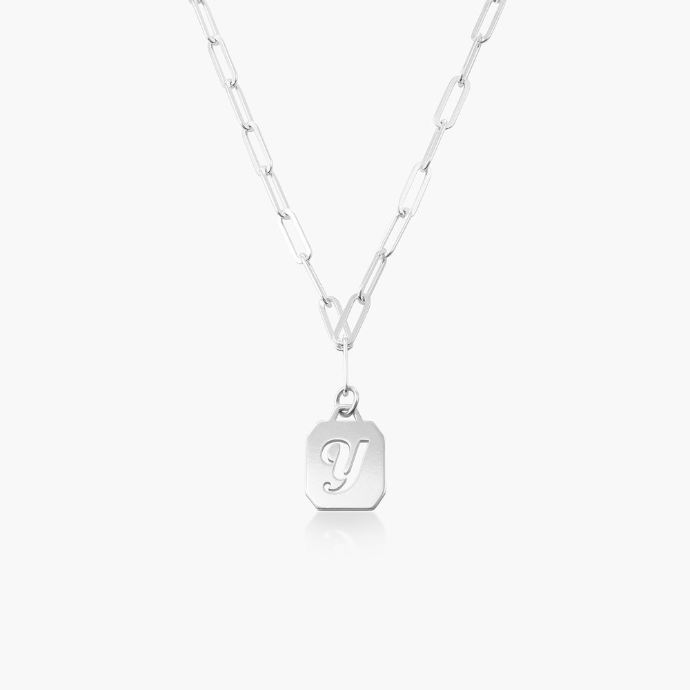 Chain Reaction Initial Necklace - Sterling Silver
