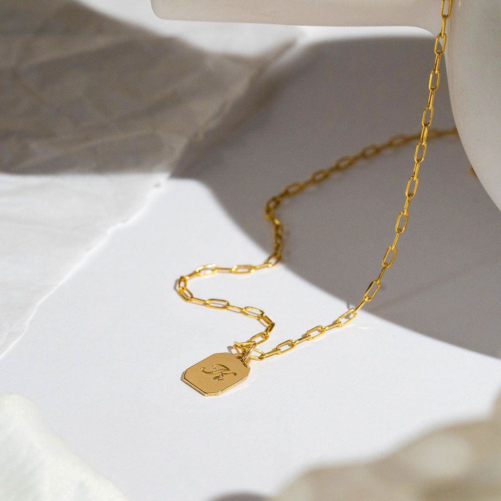 Chain Reaction Initial Necklace - 10k Gold - 1