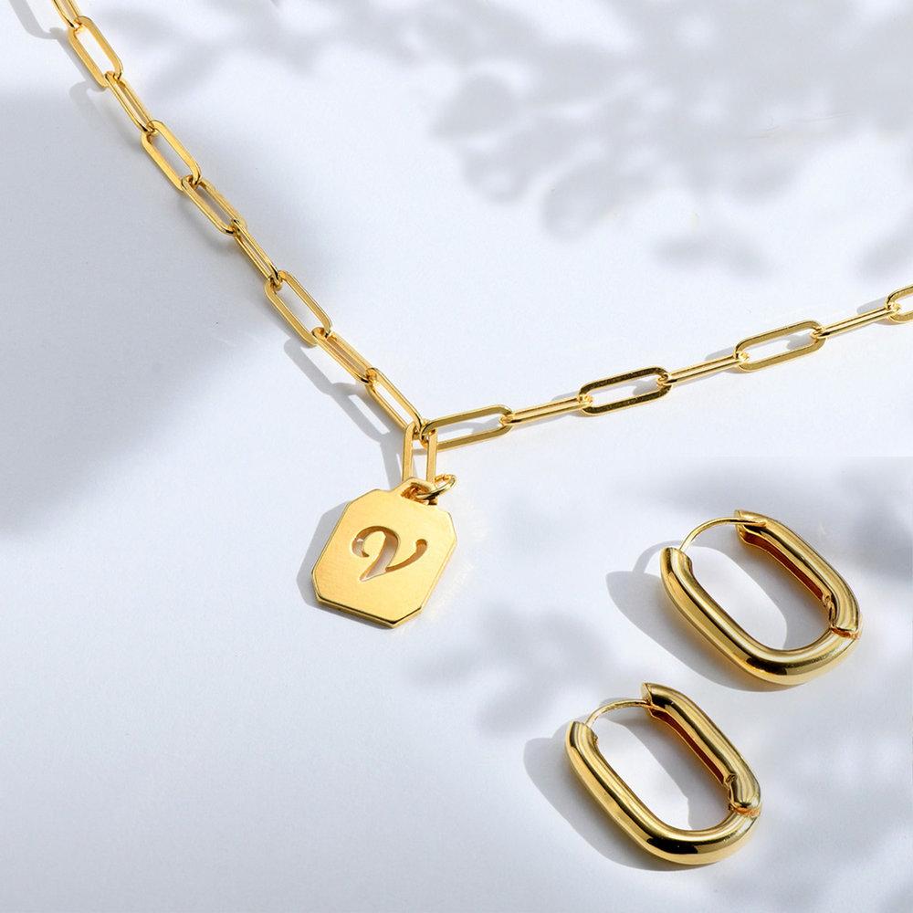 Chain Reaction Initial Necklace - Gold Vermeil - 1