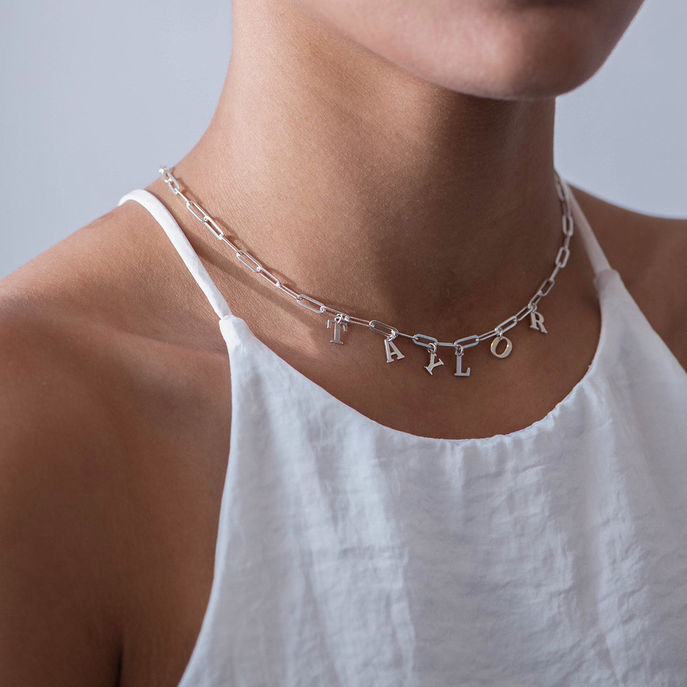 What's My Name Link Choker - Sterling Silver - 1