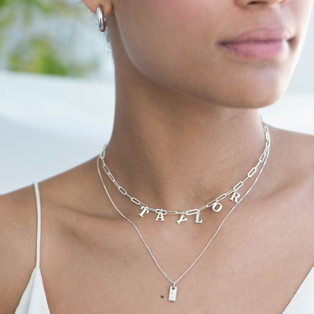 What's My Name Link Choker - Sterling Silver - 2