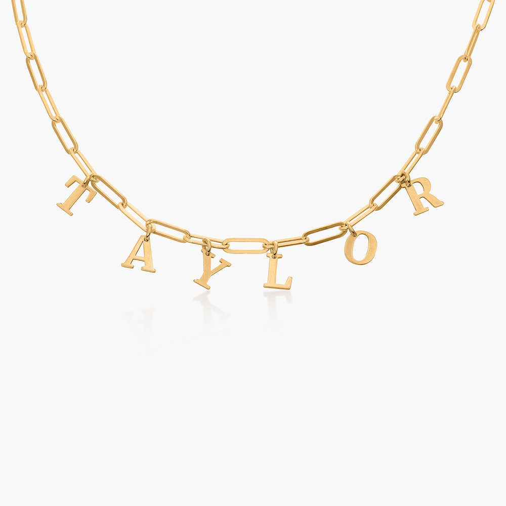 What's My Name Link Choker - Gold Plated