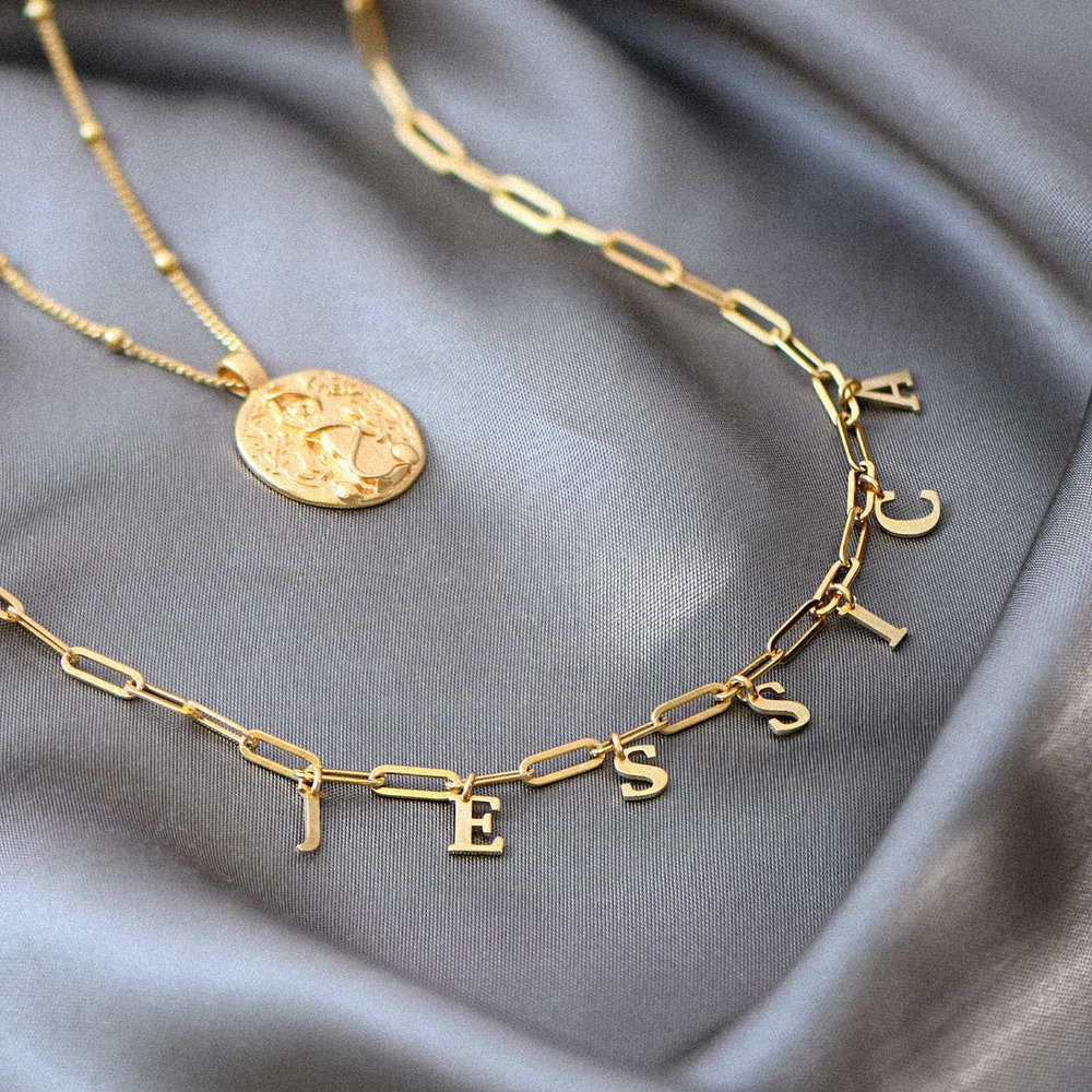 What's My Name Link Choker - Gold Plated - 1