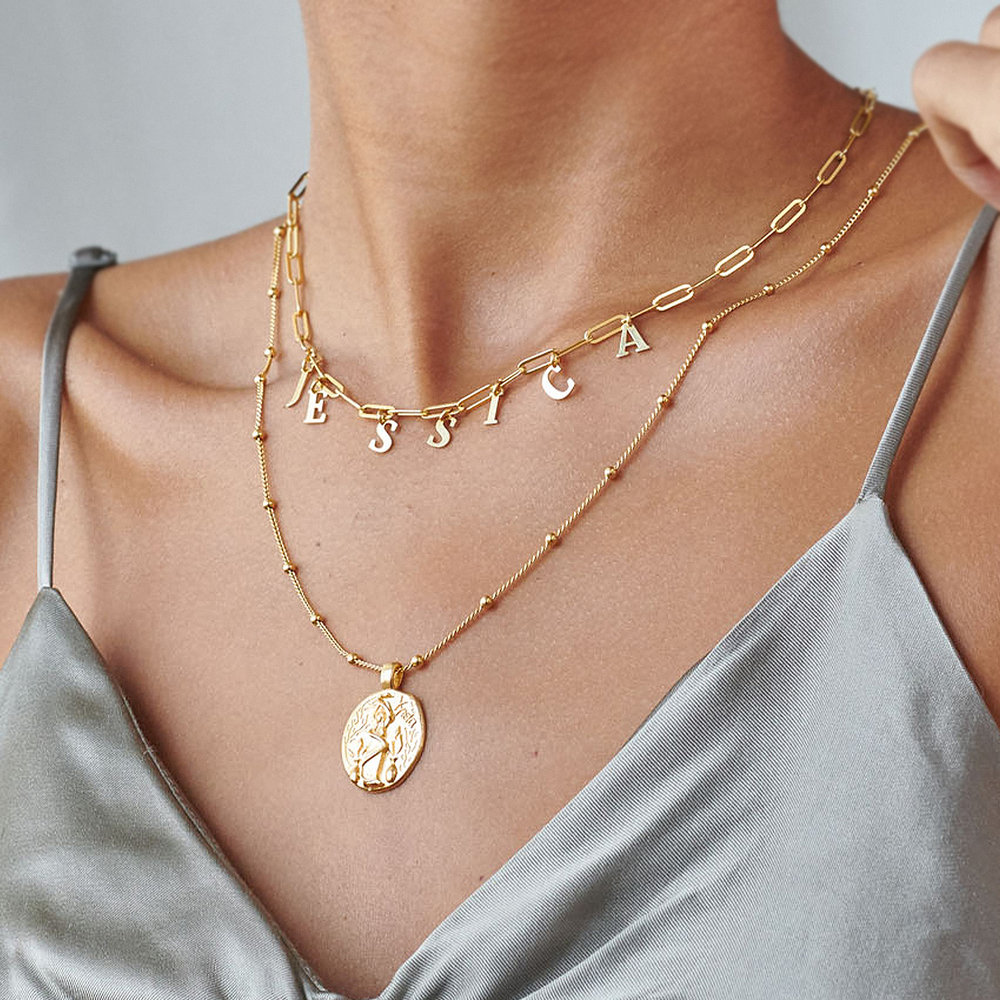 What's My Name Link Choker - Gold Plated - 2