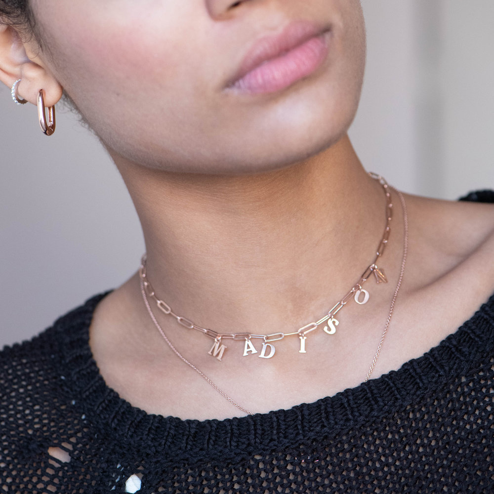 What's My Name Link Choker - Rose Gold Plated - 2