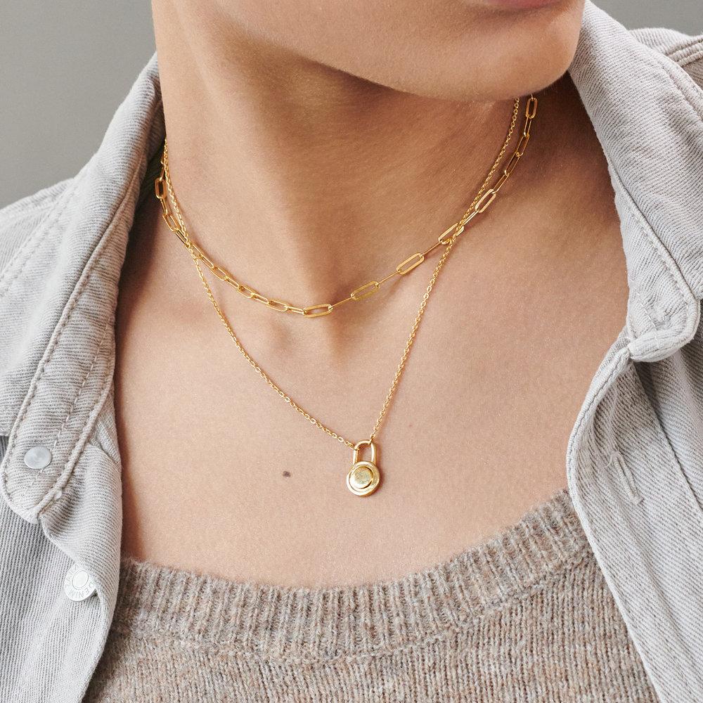 Mini Lock Necklace -  Gold Vermeil - 2