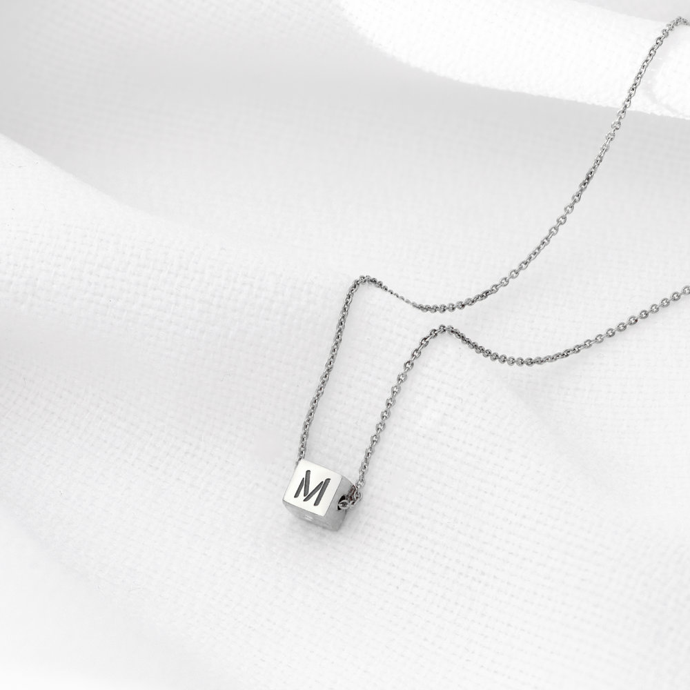 Initial Dice Necklace - Sterling Silver - 2