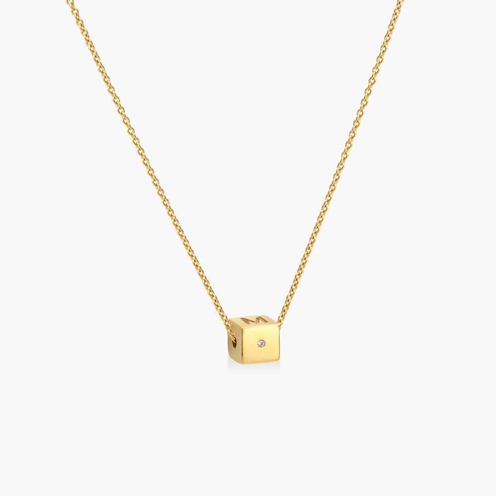 Initial Dice Necklace - Gold Vermeil - 1