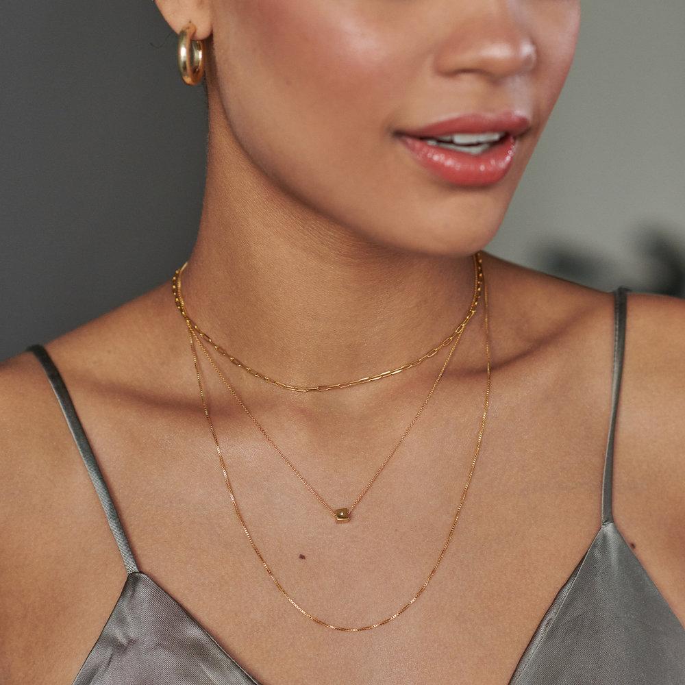 Initial Dice Necklace - Gold Vermeil - 6