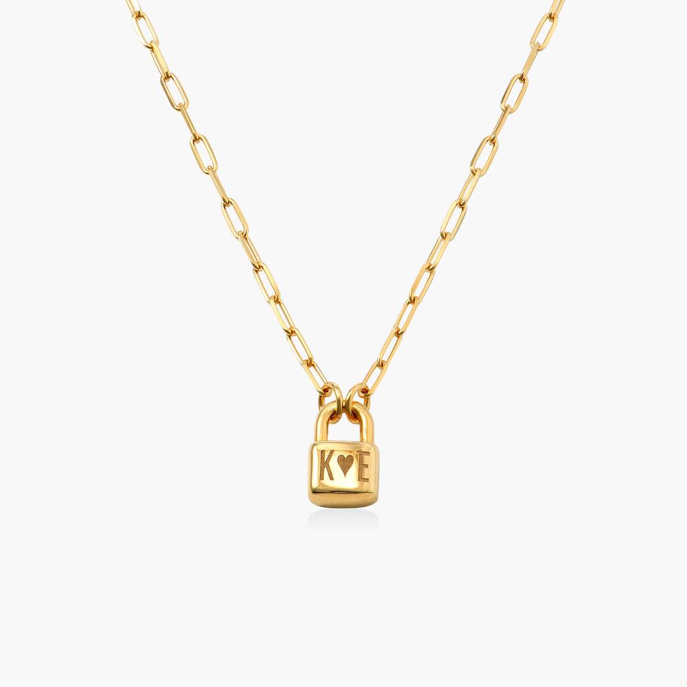 Initial Lock Necklace in Vermeil