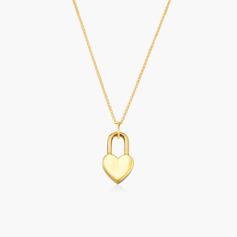 Heart Lock Necklace - Gold Plating