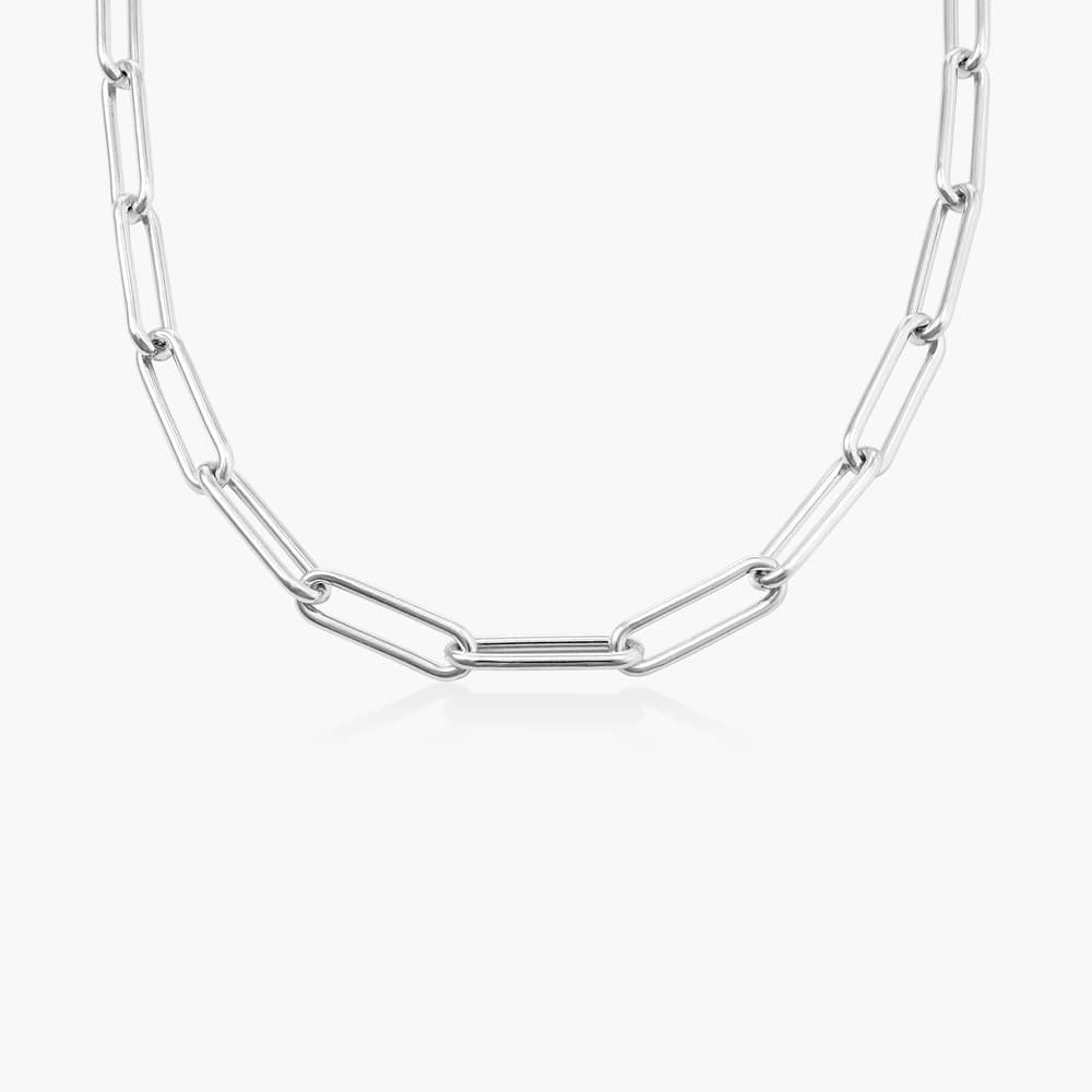 Large Link Chain Necklace - Sterling Silver