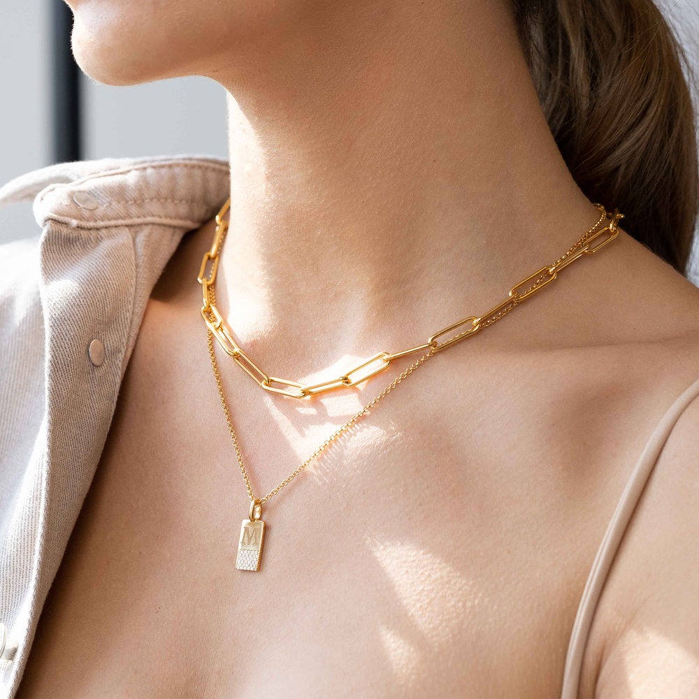 Large Link Chain Necklace - Gold Plating - 6