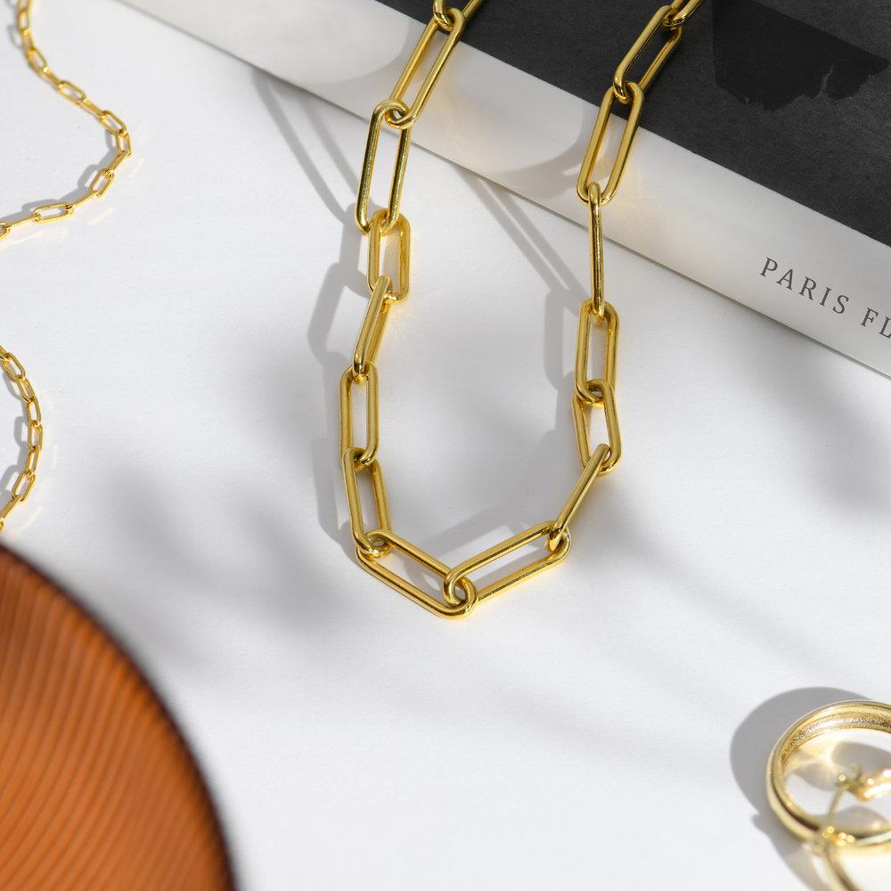 Large Link Chain Necklace - Gold Vermeil - 1