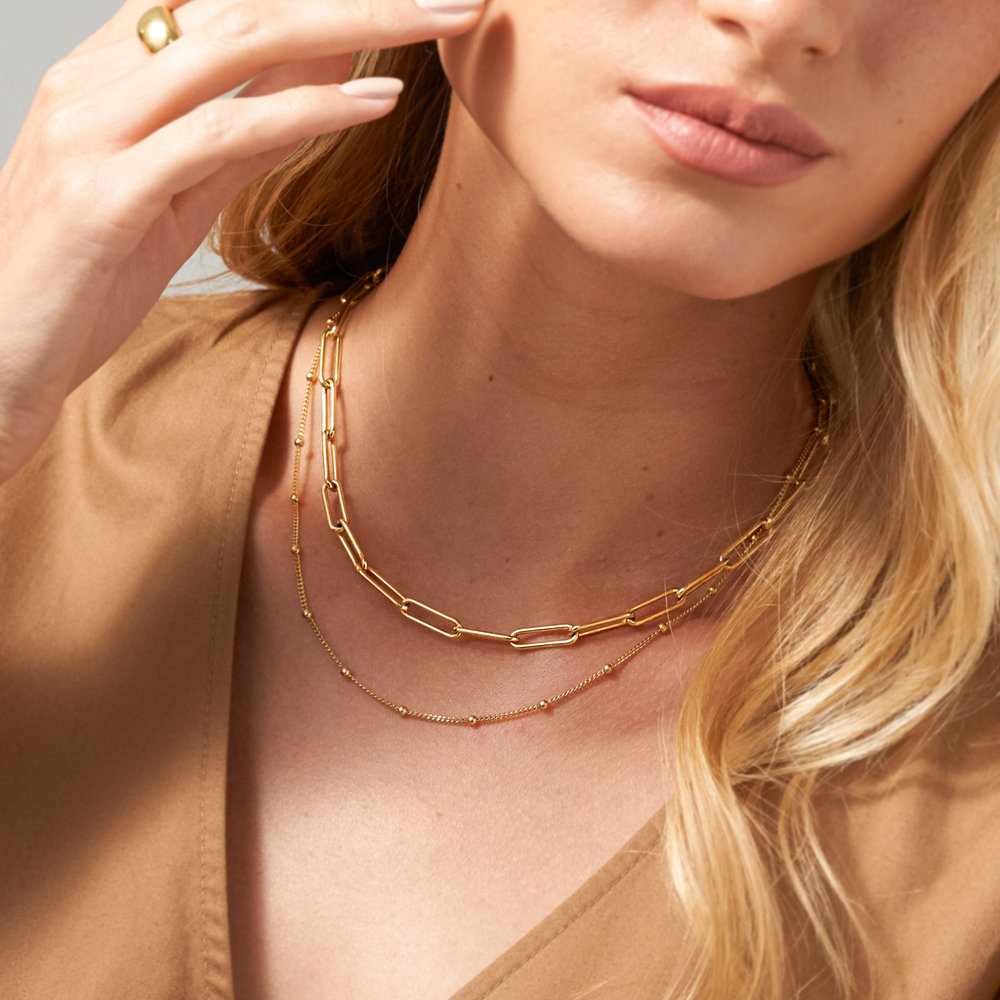 Large Link Chain Necklace - Gold Vermeil - 2