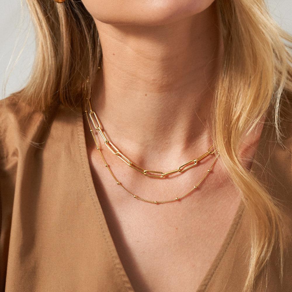 Large Link Chain Necklace - Gold Vermeil - 3