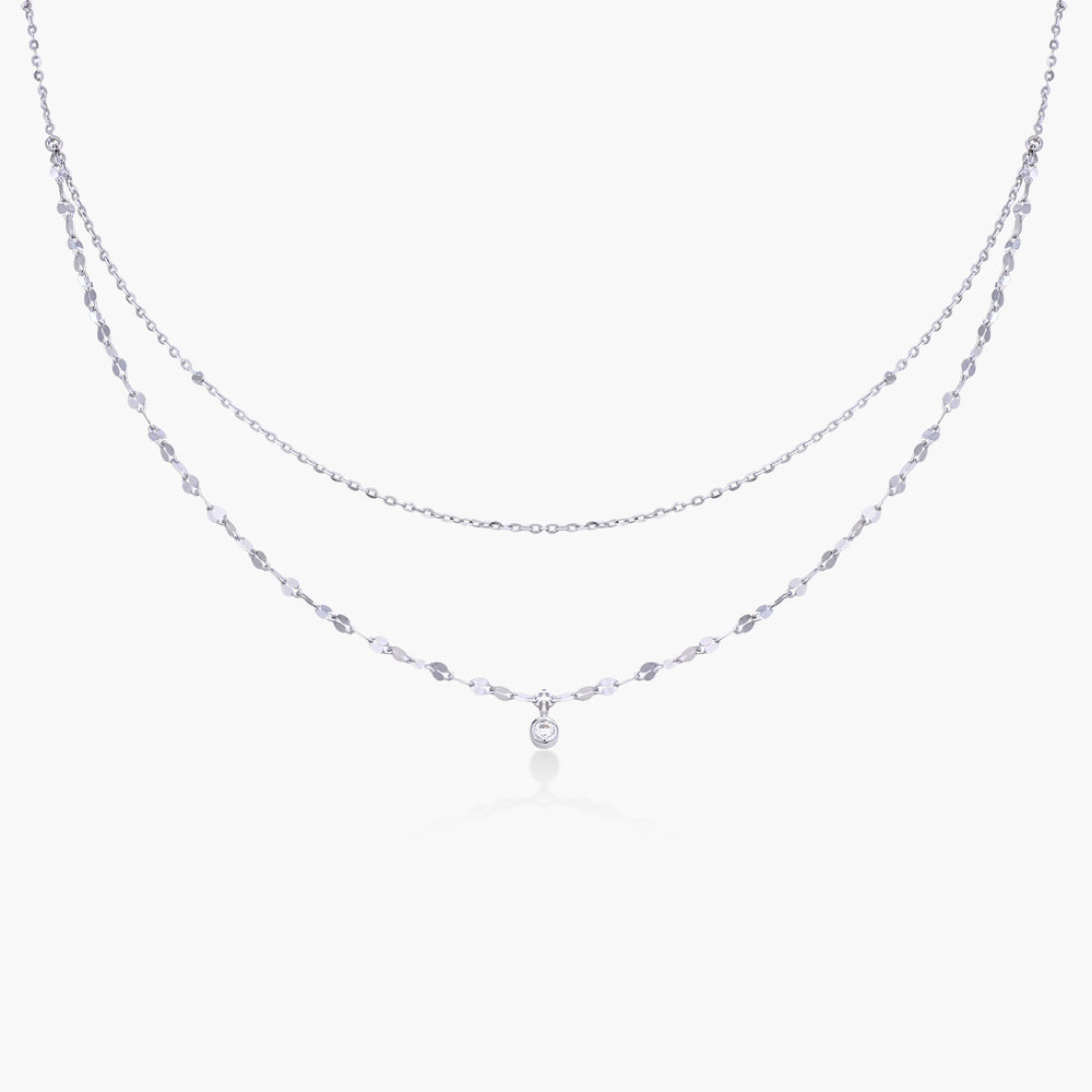 Double Chain Necklace - Sterling Silver