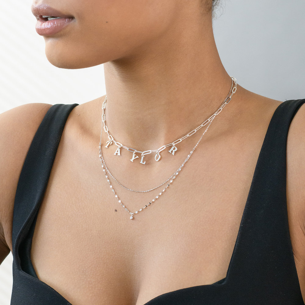 Double Chain Necklace - Sterling Silver - 2