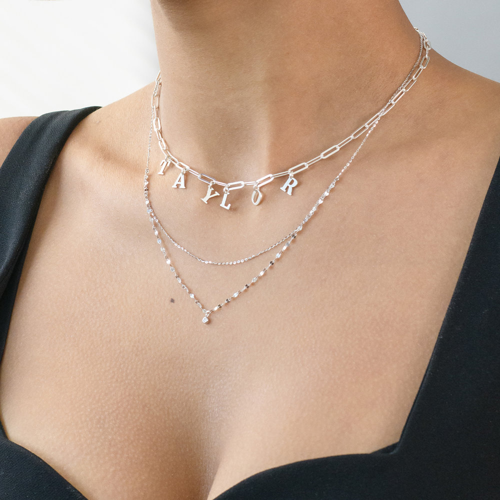 Double Chain Necklace - Sterling Silver - 3