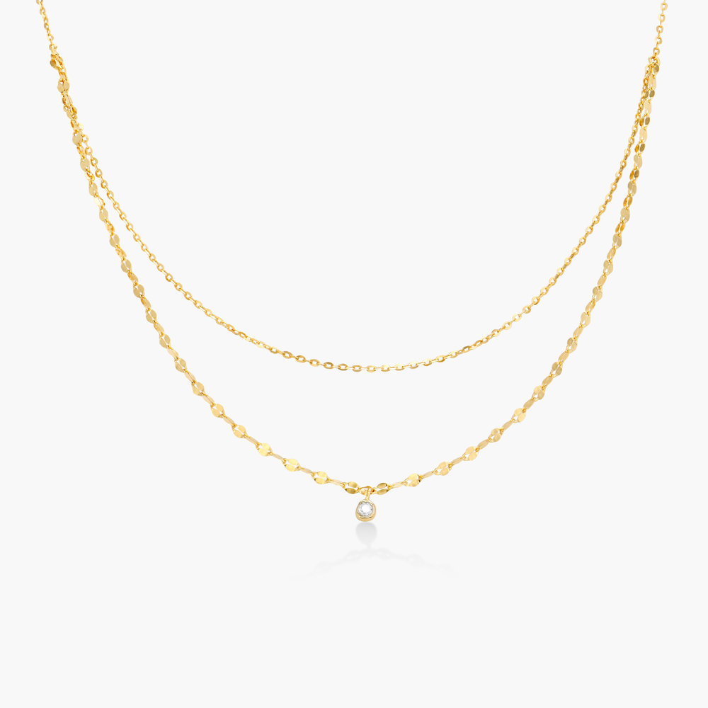 Double Chain Necklace - Gold Plating