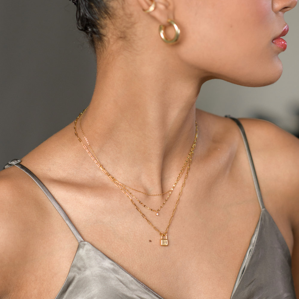 Double Chain Necklace - Gold Plating - 2