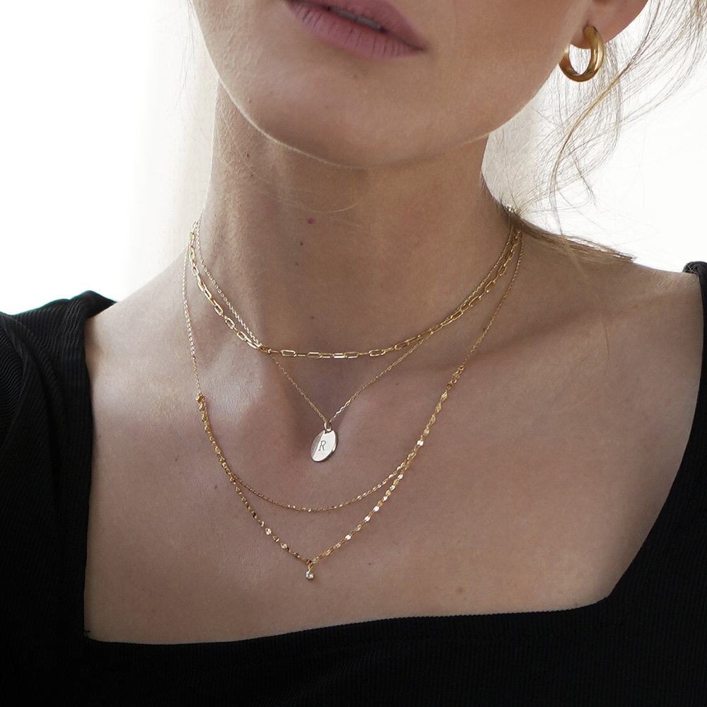 Double Chain Necklace - Gold Plating - 3