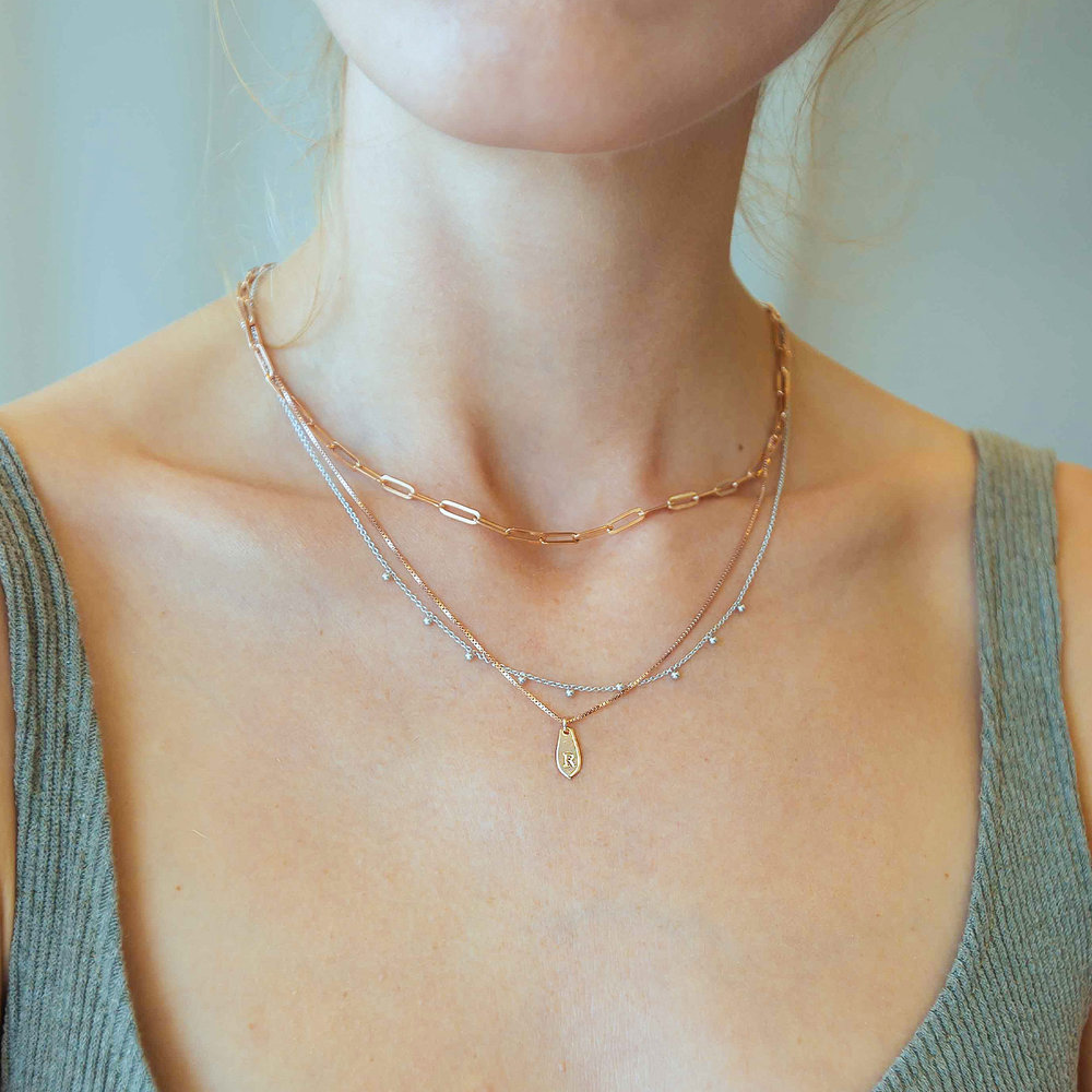 Arya Rolo Chain Necklace - Sterling Silver - 2
