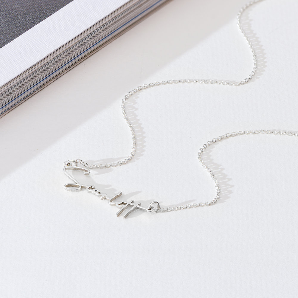Belle Custom Name Necklace - Sterling Silver - 1