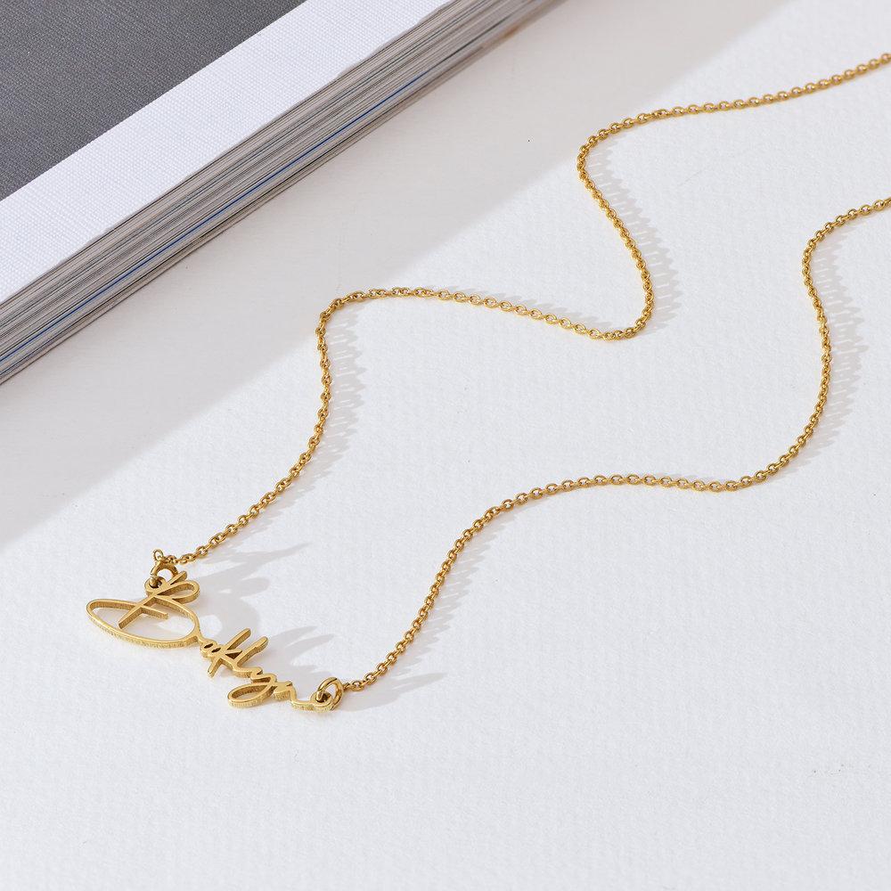 Belle Custom Name Necklace - Gold Plating - 1