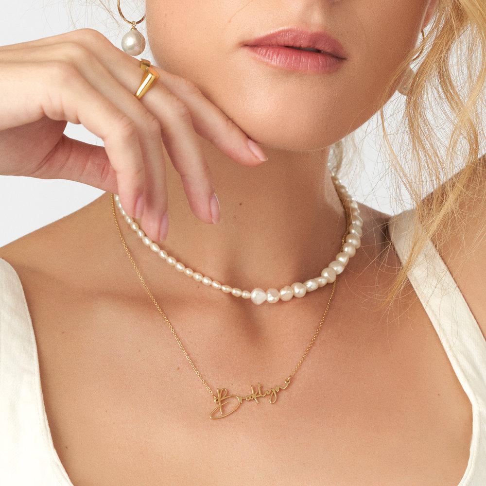Belle Custom Name Necklace - Gold Plating - 2