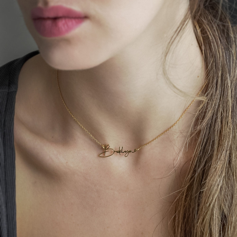 Belle Custom Name Necklace - Gold Plating - 4