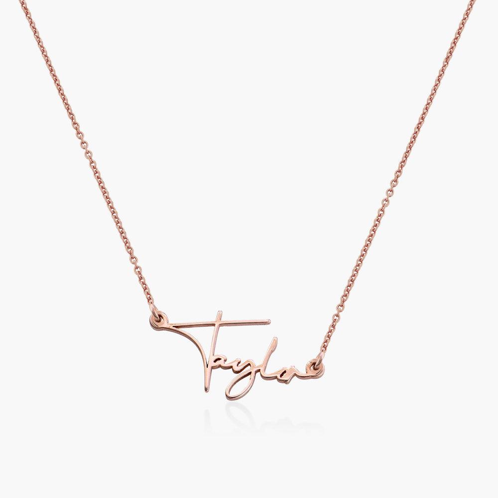 Belle Custom Name Necklace - Rose Gold Plating