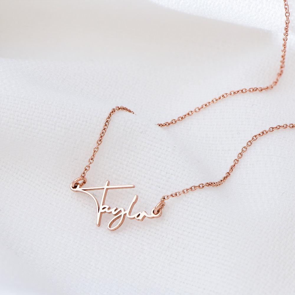 Belle Custom Name Necklace - Rose Gold Plating - 1