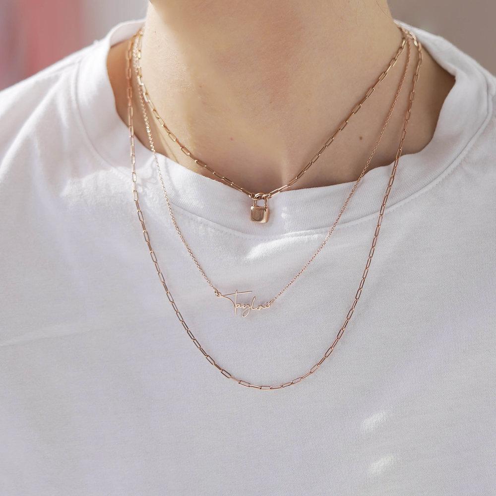 Belle Custom Name Necklace - Rose Gold Plating - 3