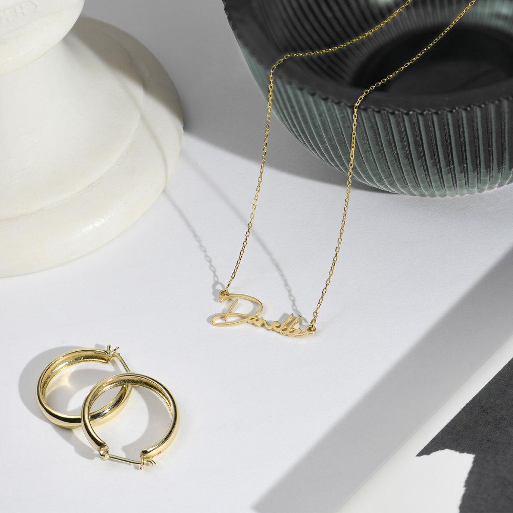 Belle Custom Name Necklace - 10k Gold - 1