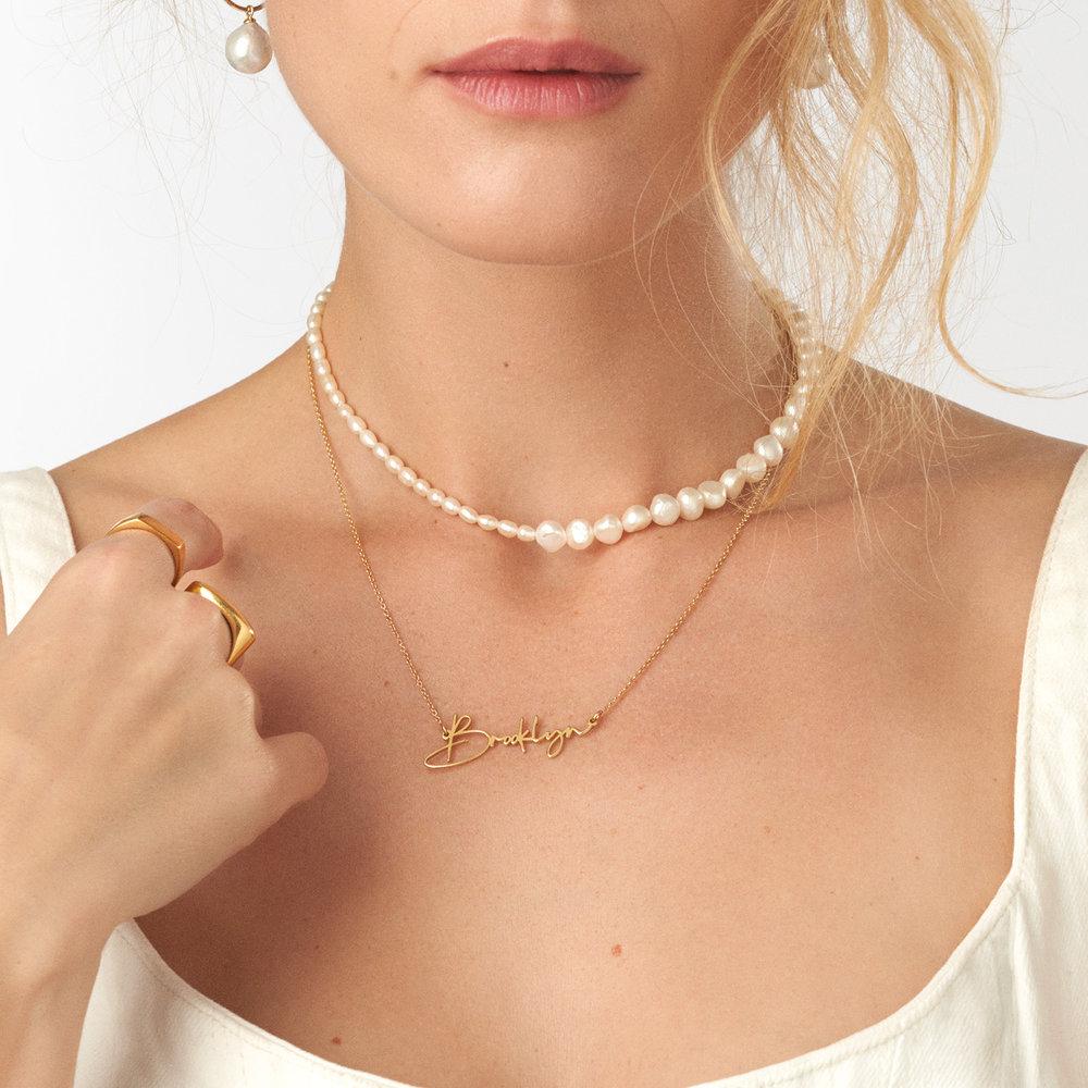 Belle Custom Name Necklace - Gold Vermeil - 2
