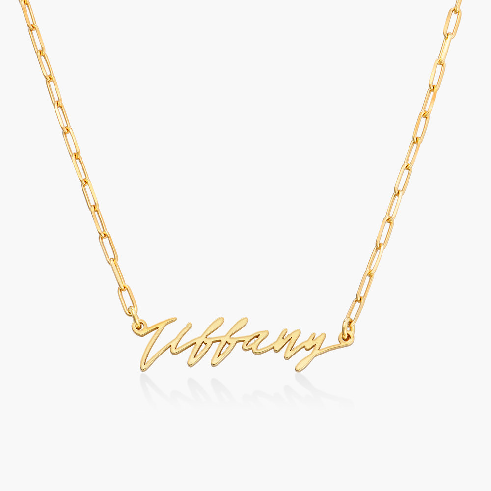 Coco Name Link Necklace - Gold Plated