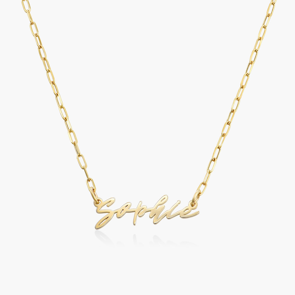 Coco Name Link Necklace - 10k Gold