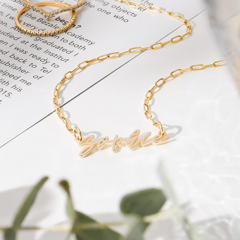 Coco Name Link Necklace - 10k Gold - 1